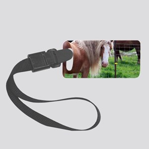 Gold Pony Small Luggage Tag