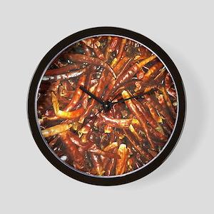 FlipFlops-DriedPeppers Wall Clock