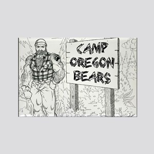 Camp Oregon Bears X 1st Draft Rectangle Magnet
