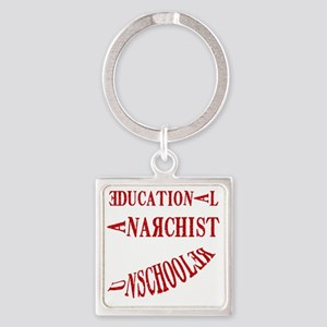 Educational Anarchist Square Keychain