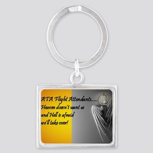 heaven or hell for ATA flight a Landscape Keychain