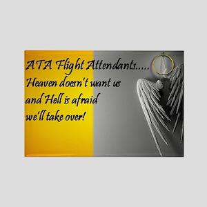 heaven or hell for ATA flight att Rectangle Magnet