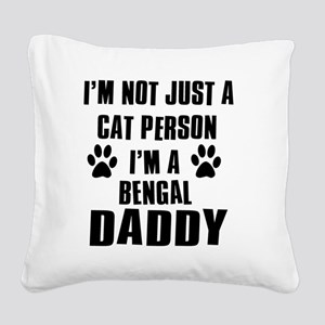 Bengal Square Canvas Pillow