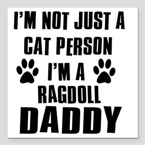 "ragdoll Square Car Magnet 3"" x 3"""