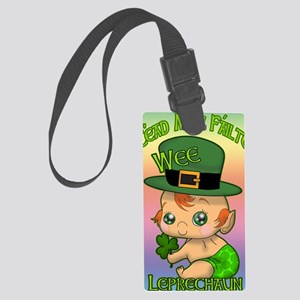 100-k-welcomes-baby-BANNER-VERTI Large Luggage Tag