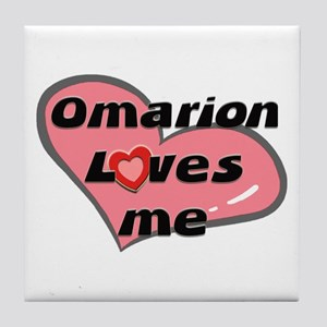 omarion loves me  Tile Coaster