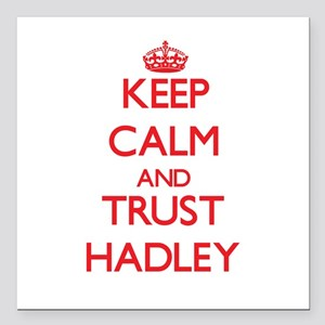 "Keep Calm and TRUST Hadley Square Car Magnet 3"" x"