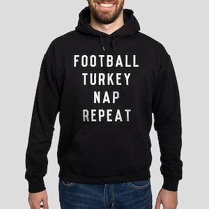 Football Turkey Nap Repeat Hoodie (dark)