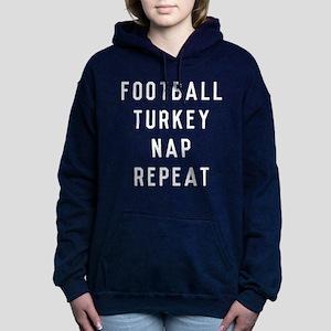 Football Turkey Nap Repe Women's Hooded Sweatshirt