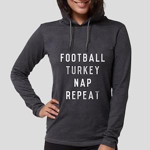 Football Turkey Nap Repeat Womens Hooded Shirt