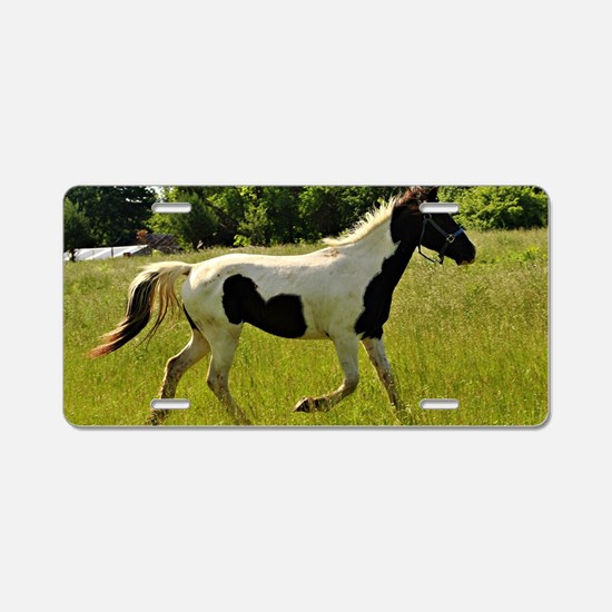 Spotted Horse Aluminum License Plate