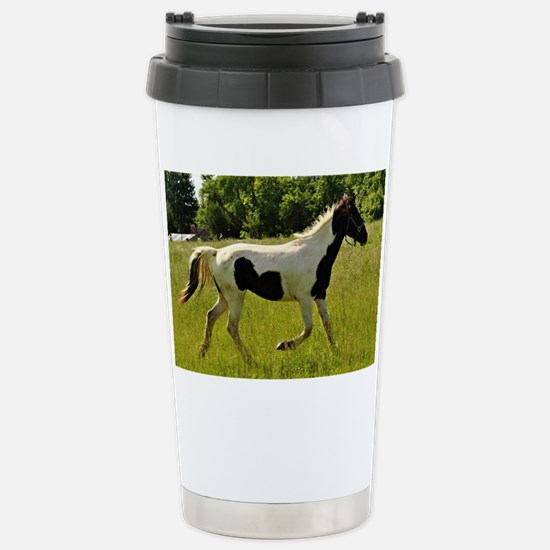 Spotted Horse Stainless Steel Travel Mug