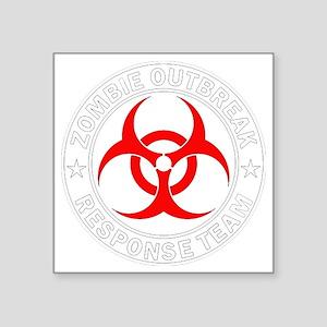 """zombie-outbreak Square Sticker 3"""" x 3"""""""