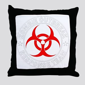 zombie-outbreak Throw Pillow