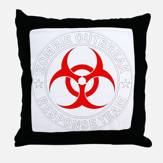 zombie-outbreak Throw Pillow