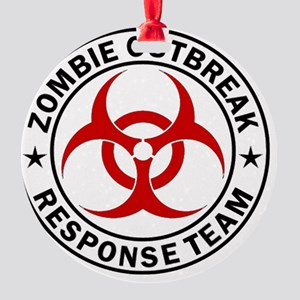 zombie-outbreak-carmagnet Round Ornament