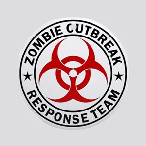 zombie-response-button Round Ornament