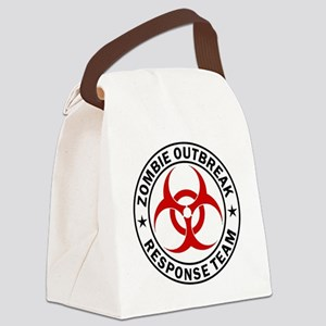 zombie-response-button Canvas Lunch Bag