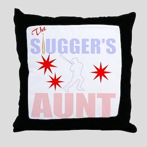 Proud Baseball aunt Throw Pillow