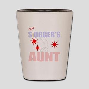Proud Baseball aunt Shot Glass