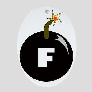 fbomb Oval Ornament
