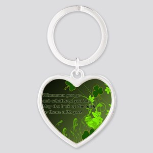 LUCK-OF-THE-IRISH-STADIUM-BLANKET Heart Keychain