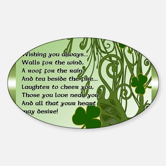 WISHING-YOU-ALWAYS-STADIUM-BLANKET Sticker (Oval)