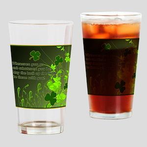 LUCK-OF-THE-IRISH-STADIUM-BLANKET Drinking Glass