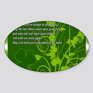 MAY-THE-ROAD-RISE-TO-MEET-YOU-STADI Sticker (Oval)
