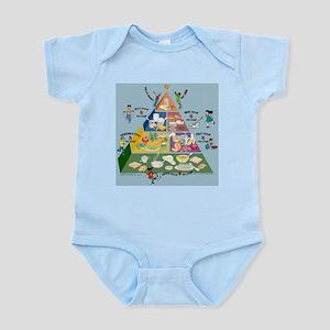 kids_food_pyramid Body Suit