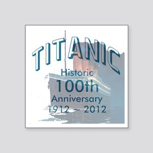 "Titanic-3 Square Sticker 3"" x 3"""