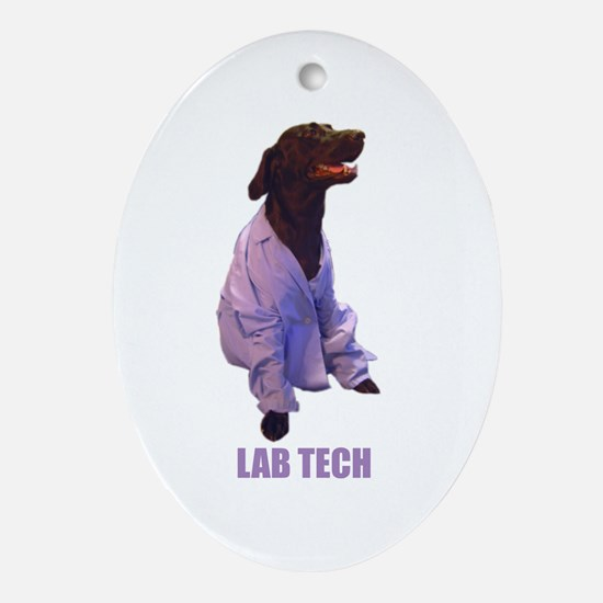 lab tech Oval Ornament