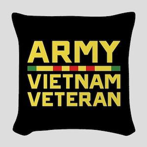 Army Vietnam Veteran Woven Throw Pillow
