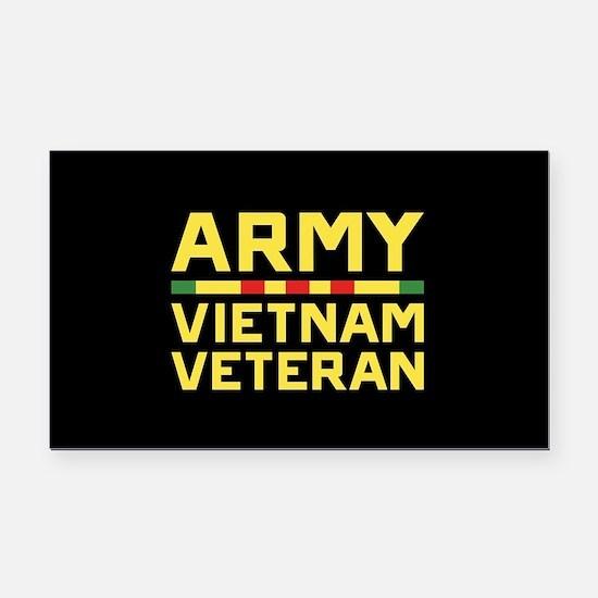 Army Vietnam Veteran Rectangle Car Magnet