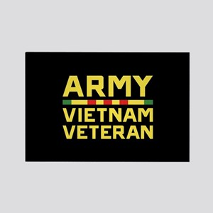 Army Vietnam Veteran Rectangle Magnet