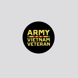Army Vietnam Veteran Mini Button