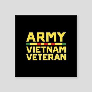 "Army Vietnam Veteran Square Sticker 3"" x 3"""