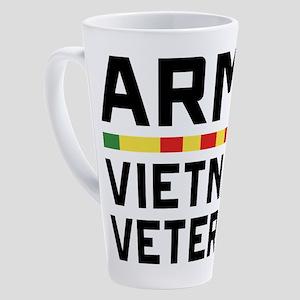 Army Vietnam Veteran 17 oz Latte Mug