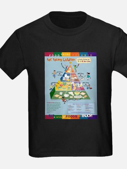 Food Guide Pyramid Ash Grey T-Shirt