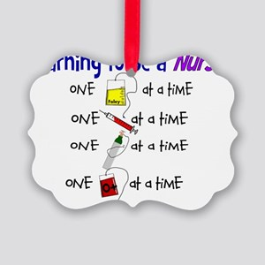 learning to be a nurse Picture Ornament