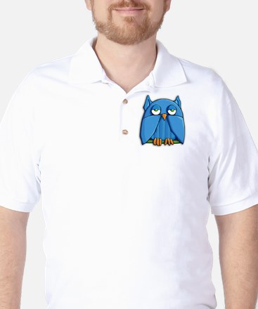 Coin Purse Aqua Owl Golf Shirt