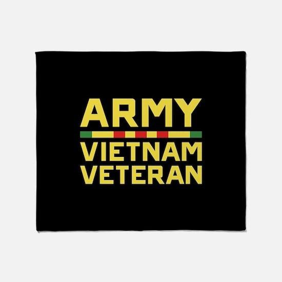 Army Vietnam Veteran Throw Blanket