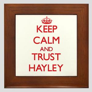Keep Calm and TRUST Hayley Framed Tile