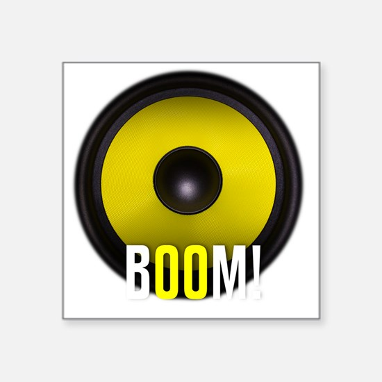 "BOOM! Square Sticker 3"" x 3"""