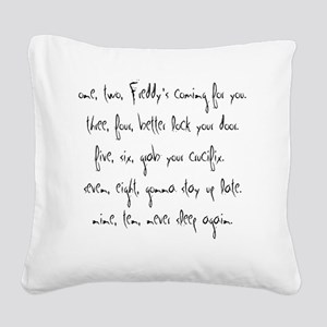 one,two Square Canvas Pillow