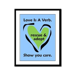 Love Is A Verb Framed Panel Print