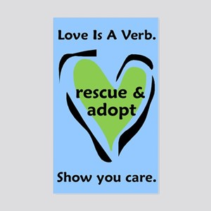 Love Is A Verb! Rectangle Sticker