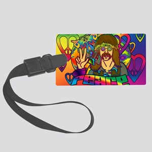 PSYCHEDELIC-PEACE-banner Large Luggage Tag