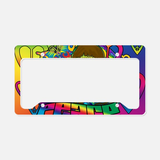 PSYCHEDELIC-PEACE-banner License Plate Holder