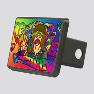 PSYCHEDELIC-PEACE-banner Rectangular Hitch Cover